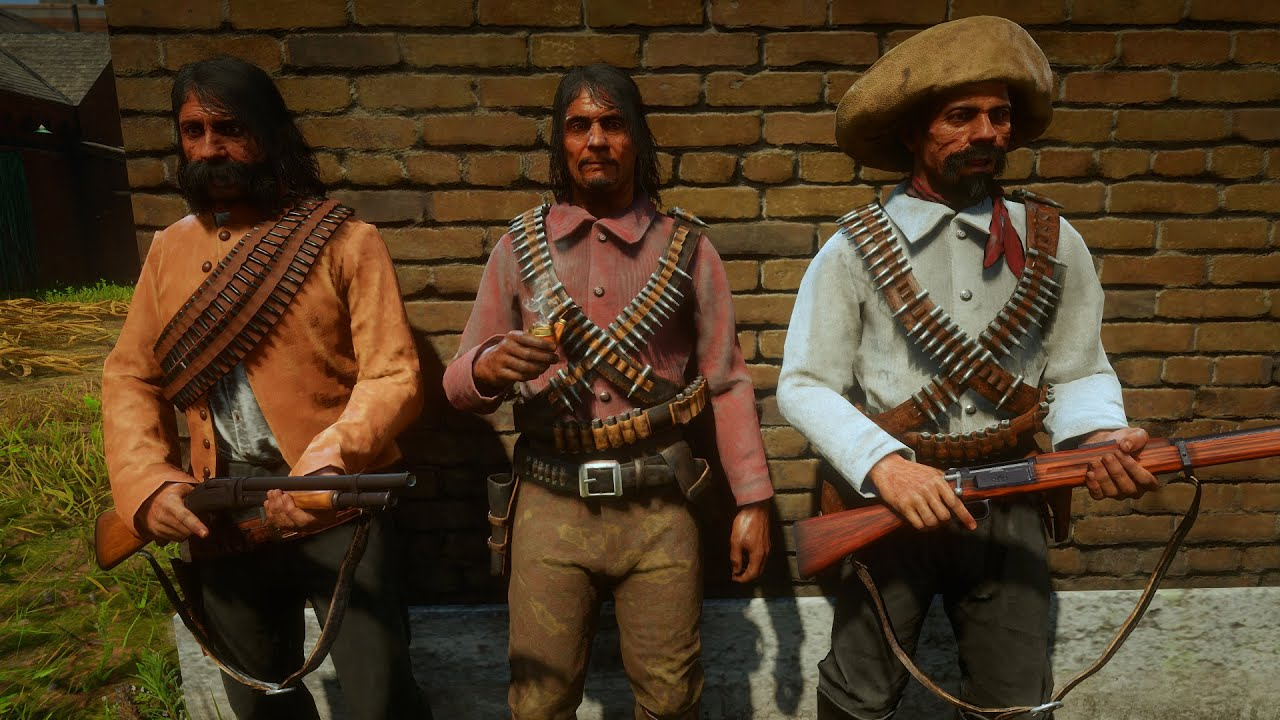 Del Lobo Gang Outfits Red Dead Redemption 2 Npc Models And Skins Youtube