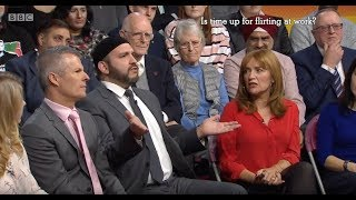 BBC1 Big Questions: Should Christian refugees get priority? & Should Flirting be banned?