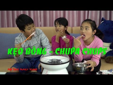 Thử ăn kẹo bông gòn làm từ kẹo mút Chupa Chups với máy Cotton Candy Maker
