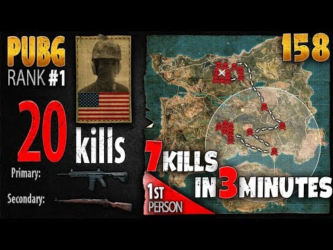 PUBG Rank 1 - chocoTaco 20 kills [NA] SOLO FPP - PLAYERUNKNOWN'S BATTLEGROUNDS #158