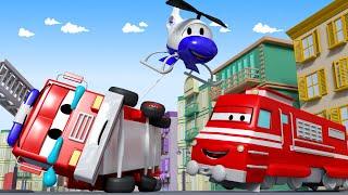 Поезд Трой -  Пожарного Фрэнка сбило шаром для сноса зданий - детский мультфильм