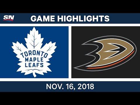 NHL Highlights | Maple Leafs vs. Ducks – Nov. 16, 2018