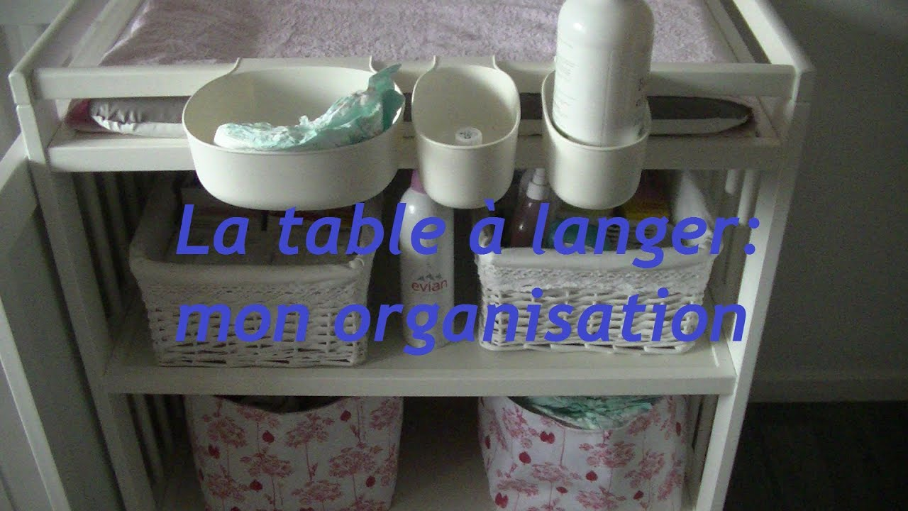 organisation de ma table langer youtube. Black Bedroom Furniture Sets. Home Design Ideas