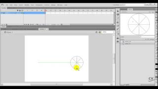 CV Tutorials Flash CS6 Tutorial #4   Creating Simple Animations using the MOTION Tween
