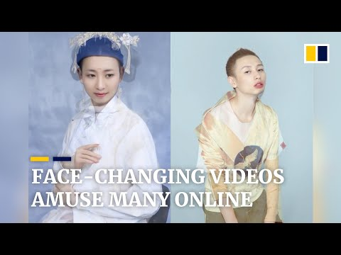 Quirky face-changing videos amuse many online