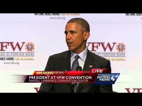 Full video: Obama speaks at VFW Convention in Pittsburgh
