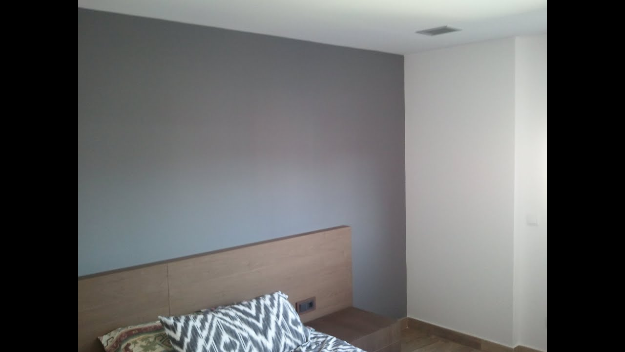 Pintar paredes en plastico blanco y esmalte gris for Pintura pared color vison