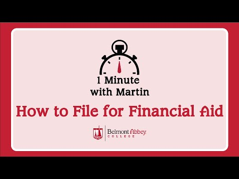 1 Minute with Martin: How to File for Financial Aid