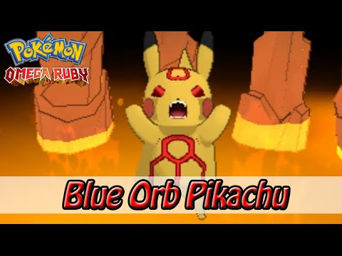 Groudon Blue Orb Pikachu Pokemon Omega Ruby Youtube