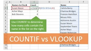 How to use the COUNTIF Function Instead of VLOOKUP in Excel
