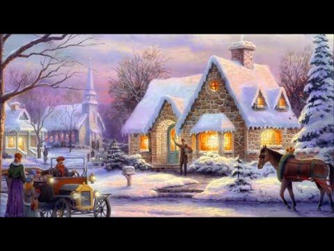 Traditional Old Christmas Carols and Music set to Thomas Kinkade Scenes