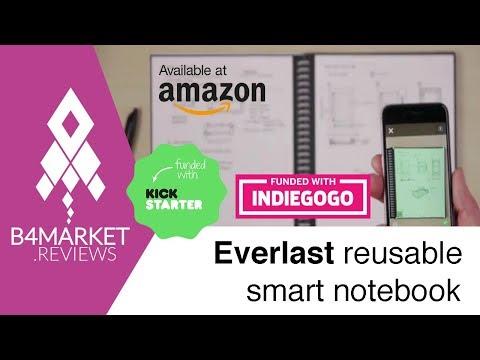 Review Everlast smart notebbok by Rocketbook on Kickstarter, Indiegogo and Amazon