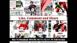 FIFA 09,10,11,12,13,14,15,16,17,18 PC Free Full Version Download