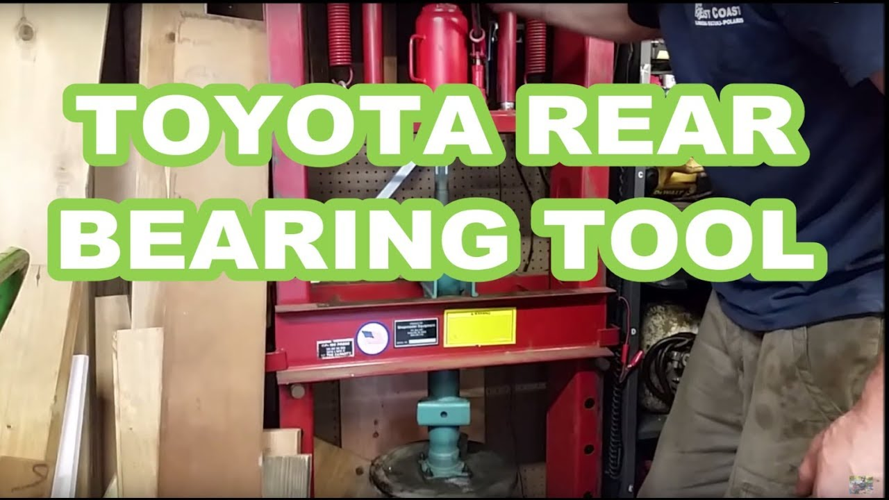tundra/tacoma/4runner rear wheel bearing removal replacement tips