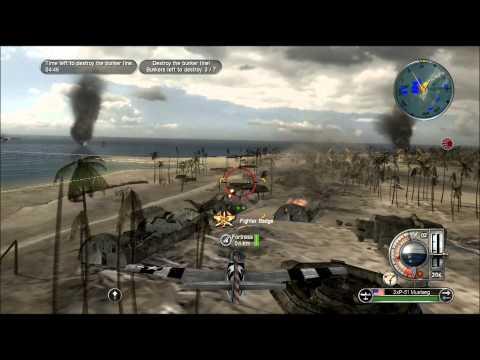 "Battlestations Pacific Allies Walkthrough 7 ""Invasion of Tarawa"" Gold medal 1080p"