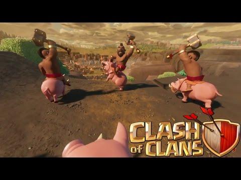 Clash of Clans - NEW 360 DEGREE VIRTUAL REALITY HOG RAID!