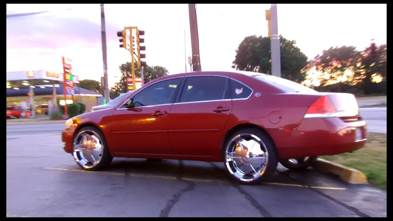 Impala 2008 chevy impala wheels : Chevy Impala on 22's - YouTube