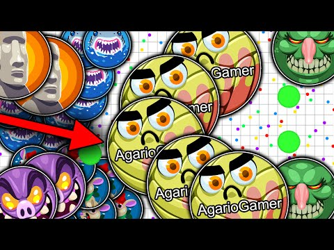 Agar.io - New Trick, Popsplits King, Tricksplit, Insane Moments, (Server private 1,000+ bots)