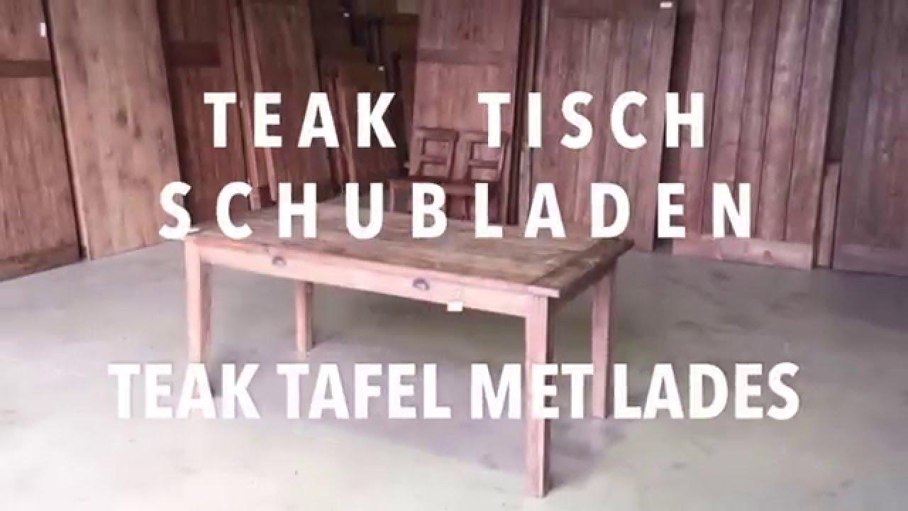 Teak tisch schubladen teak tafel lades youtube