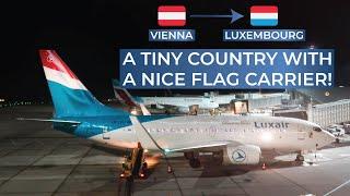 TRIPREPORT | Luxair (ECONOMY) | Vienna - Luxembourg | Boeing 737-700