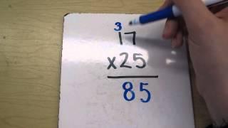 Multiplying 2 digit numbers- exaṁple 1