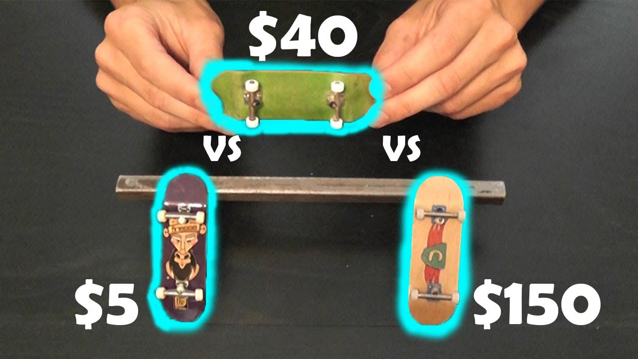 5 Tech Deck Vs 40 And 150 Fingerboard Youtube