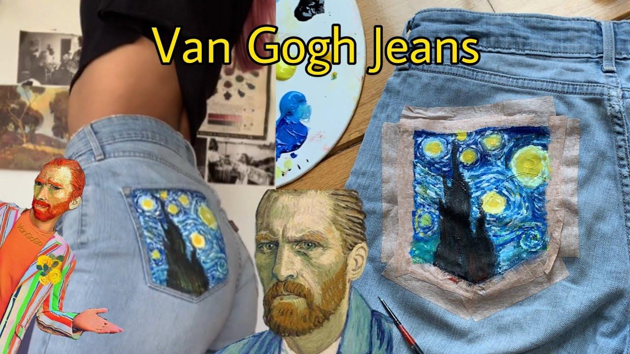 Pintando Mis Jeans Al Estilo Van Gogh Youtube