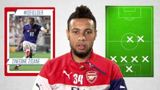 Francis Coquelin's ultimate XI - Ronaldo, Zidane, Messi and more!