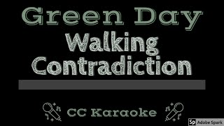Green Day • Walking Contradiction (CC) [Karaoke Instrumental Lyrics]