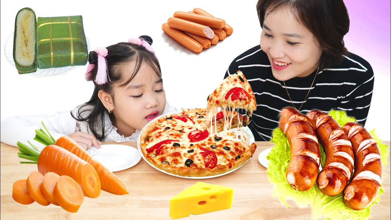 REAL MUKBANG :) Make The World's Weirdest Pizza (세계에서 가장 이상한 피자 만들기)