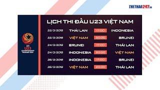 Lịch thi đấu Vòng loại U23 châu Á 2020: Việt Nam đấu Brunei, Thái Lan vs Indonesia