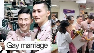 Gay Couple Getting Married after Taiwan Legalises Same-Sex Marriage