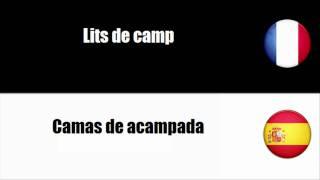[Vocabulaire] [Français-Espagnol] Articles de camping en textile