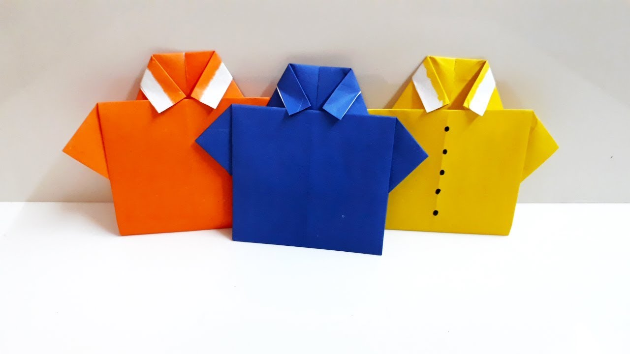 Easy Origami T Shirt Origami Clothing Origami Fun Crafts For