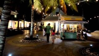 The Marina Village at Atlantis in the Bahamas at night
