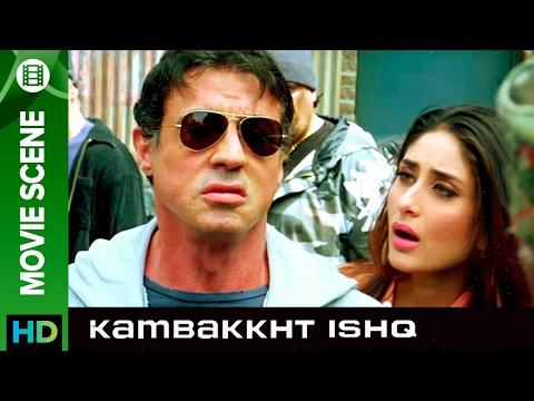 Sylvester Stallone saves the day | Kambakkht Ishq | Movie Scene