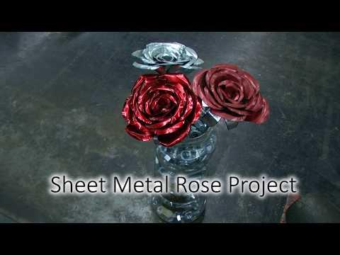 Sheet Metal Rose Flower Project