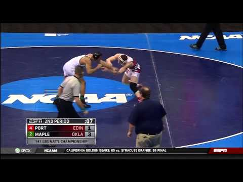 2013 NCAA Wrestling National Championships D1 Mitchell Port (Edinboro) vs. Kendric Maple (Oklahoma)