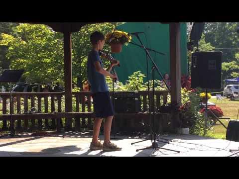 12 year old Fiddler at Newbury, Vermont Music Festival