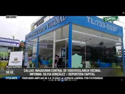 Inauguran Central de Videovigilancia en el Callao  | Vía Capital TV
