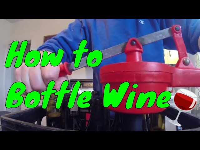 How to Bottle Homemade Wine