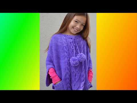 Pletena Moda Детские вязаные пончо  Children's Creative Poncho Knit