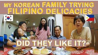 MY KOREAN IN-LAWS TRYING FILIPINO DELICACIES | FILKOR FAMILY | ENGLISH SUB