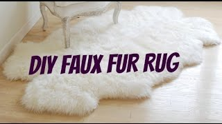 DIY FAUX FUR RUG ! Under $50