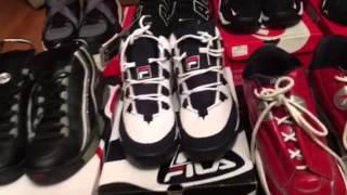 Retro Shoe (kicks) collection video fila, reebok, Nike