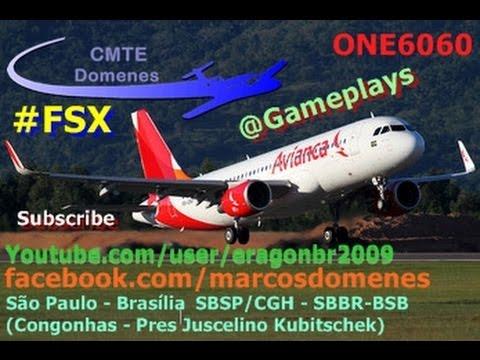 [FSX MOVIE HD] Vôo completo SBSP/SBBR São Paulo - Brasília ~Avianca A320-214SL PR-ONY