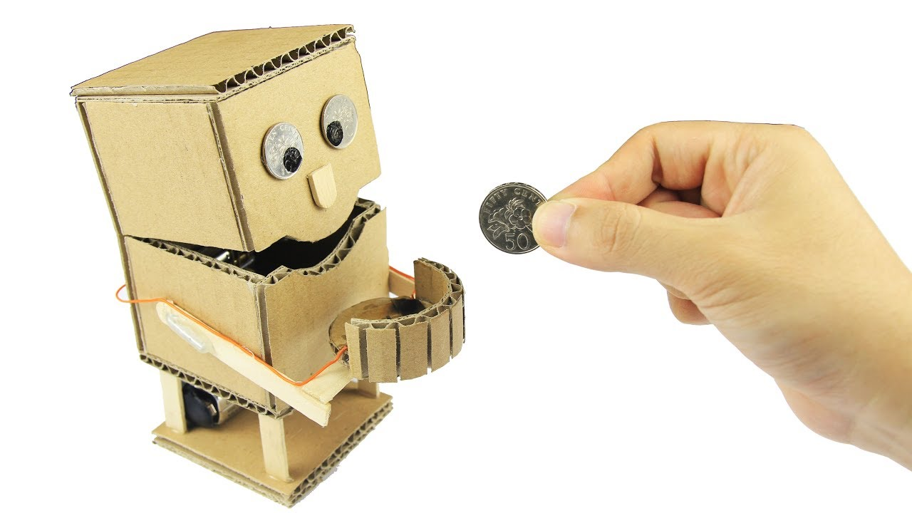 How To Make An Robot Piggy Bank With Measurements