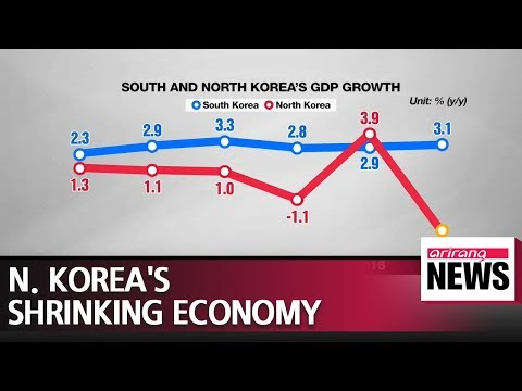 North Korean economy sees sharpest decline in 20 years in 2017:BOK