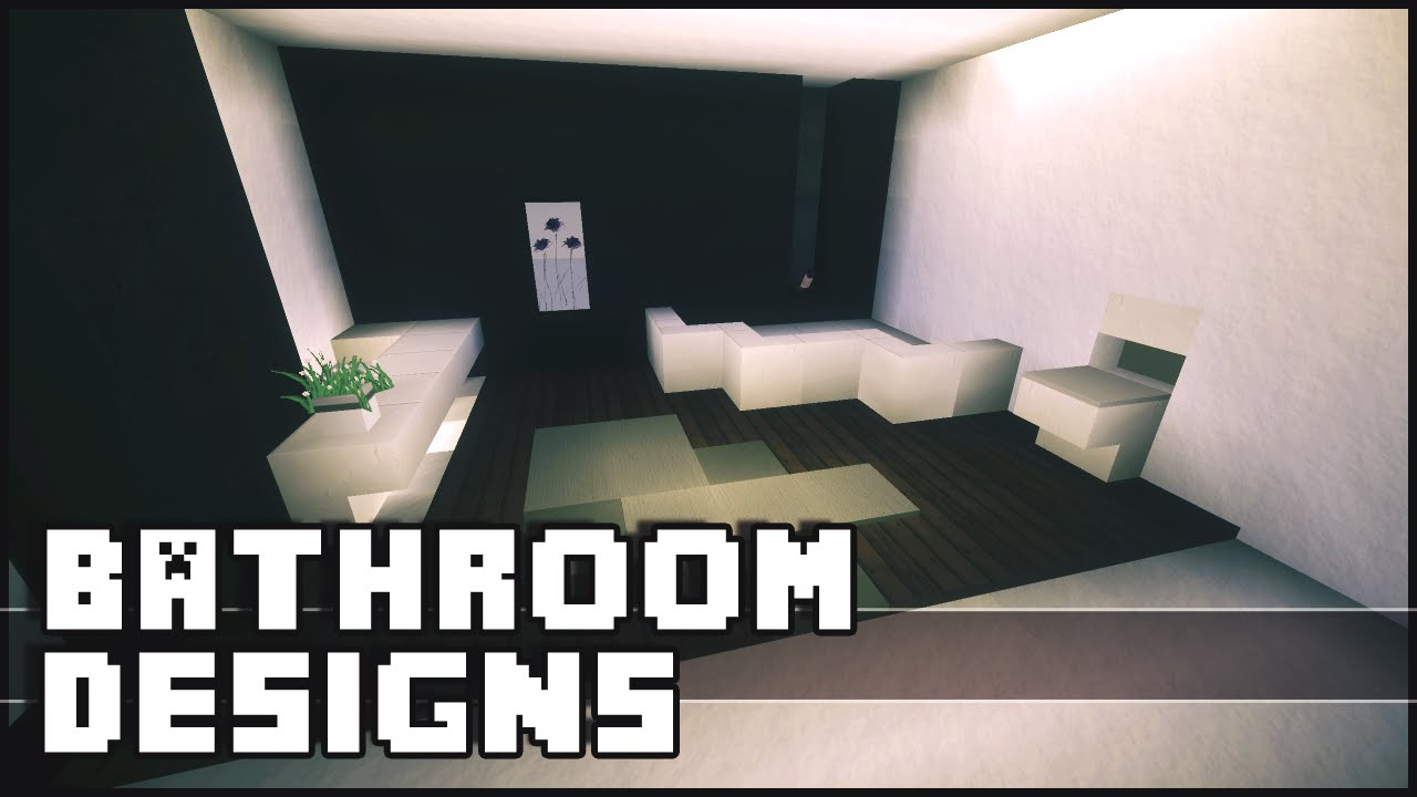 Minecraft bathroom designs ideas youtube for Minecraft house interior living room