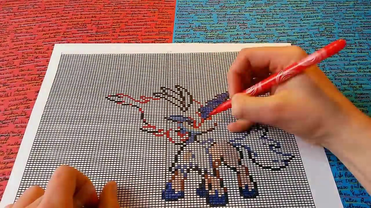 Pixel Art Pokémon Lets Draw Keldeo Comment Dessiner How To Draw